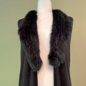 Joie  open front long sleeveless sweater wrap L